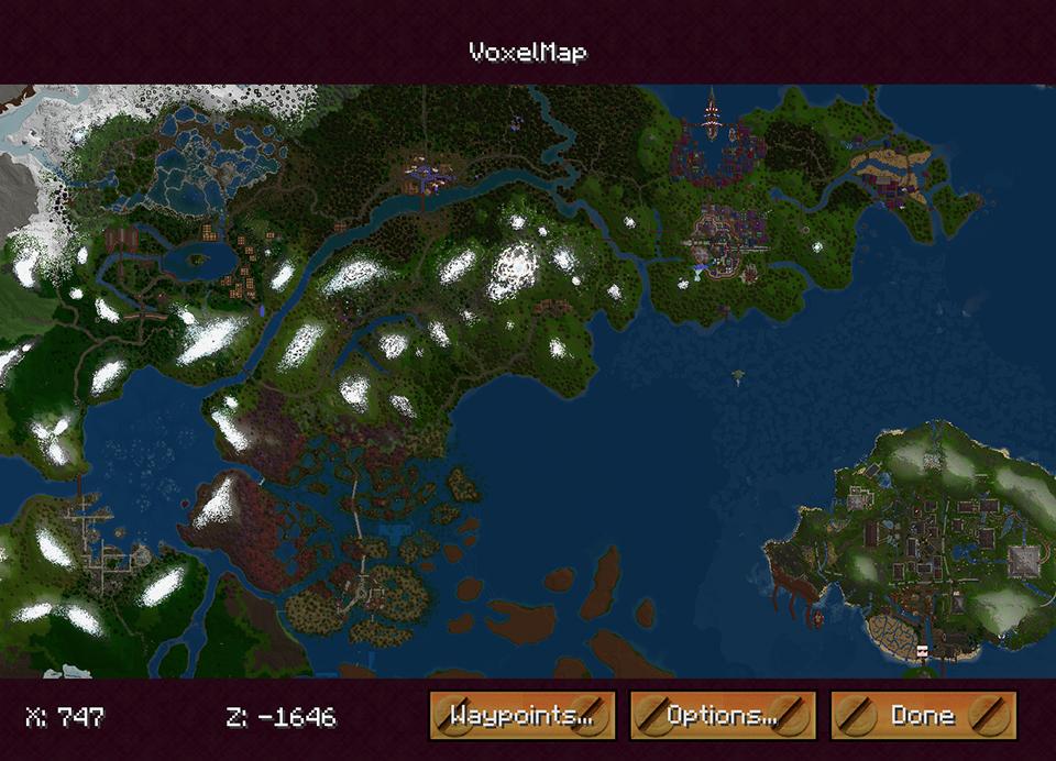 Minecraft mods - VoxelMap