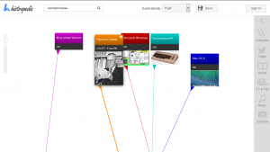 Histropedia lets you build cool visual timelines of historical events