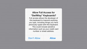 Why does a keyboard app need 'Full Access' to my iPhone?