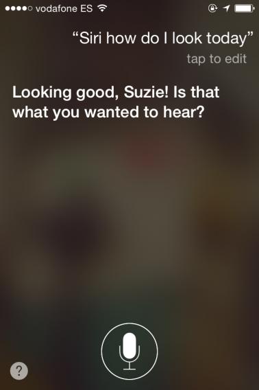 How do I look, Siri?