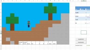 What would Minecraft look like in Microsoft Excel?