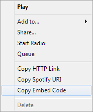 spotify embed options