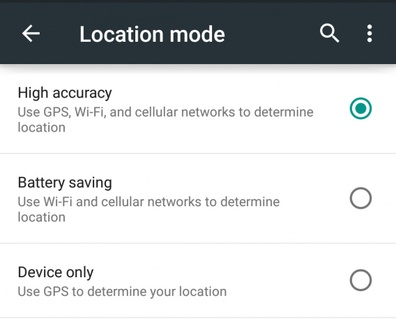 android 5.0 lollipop location