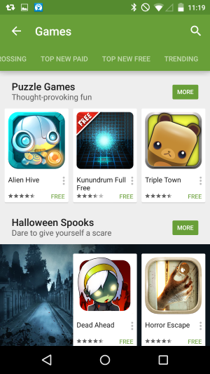 android 5.0 lollipop google play store games