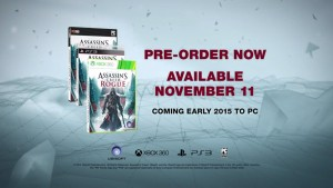 Assassin's Creed Rogue will come to PC early 2015