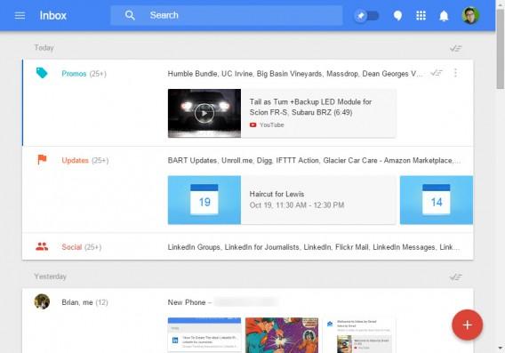 Google Inbox sur son navigateur
