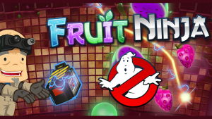 Fruit Ninja gets a free halloween Ghostbusters update