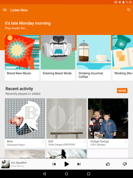 google play music all access nexus 9
