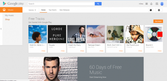 google play music store