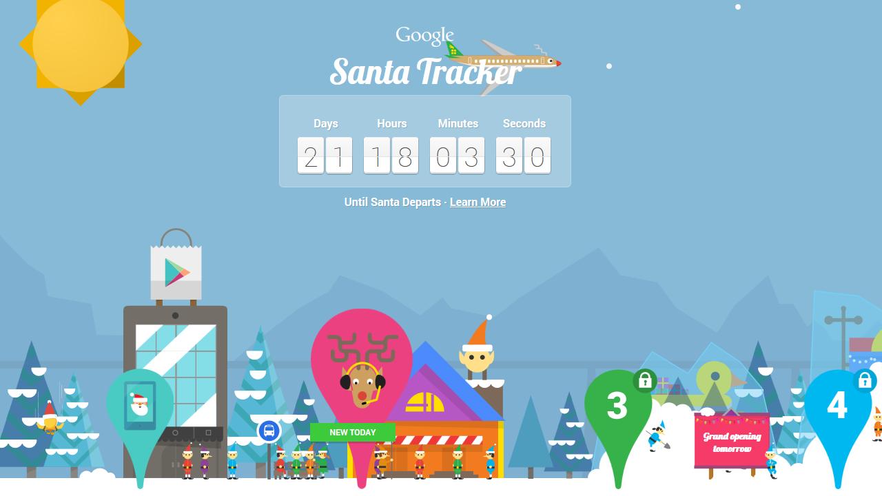 Santa Trackers – Google and Microsoft go head to head