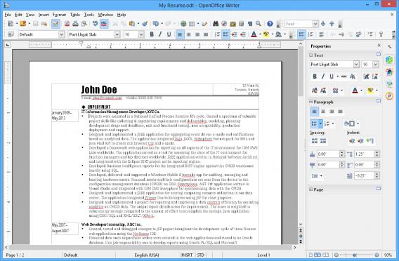 OpenOffice Wrtier