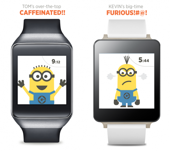 despicable watch face android wear
