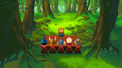 Knights of Pen and Paper 2 let me play a Hipster Dwarf Paladin