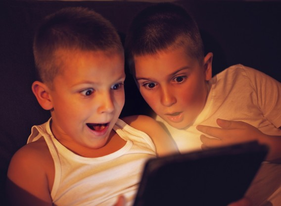 Kids with photos