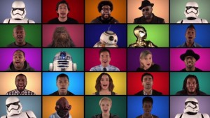 Star Wars 7: The awesome video uniting the main characters….singing!