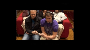 Two players share a control, and break a world record!