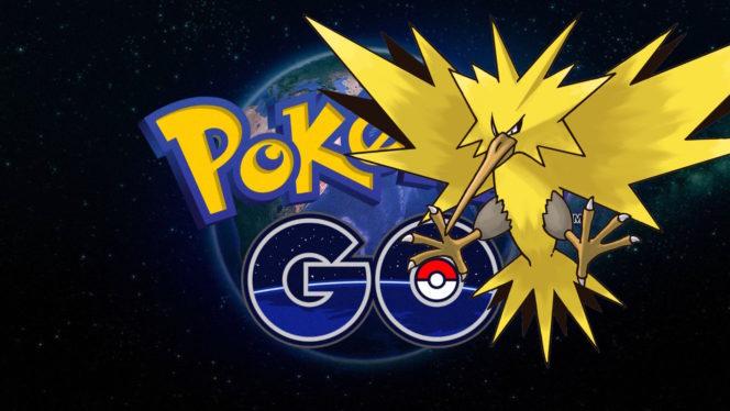 Legendary Zapdos appears in Pokémon Go