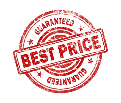 best price stamp on white background