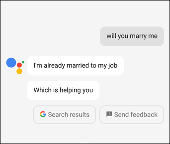 How to get Google Assistant to Cheer You Up marry me