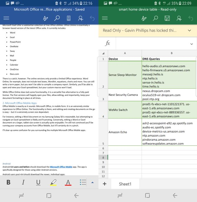 Microsoft Office on Mobile