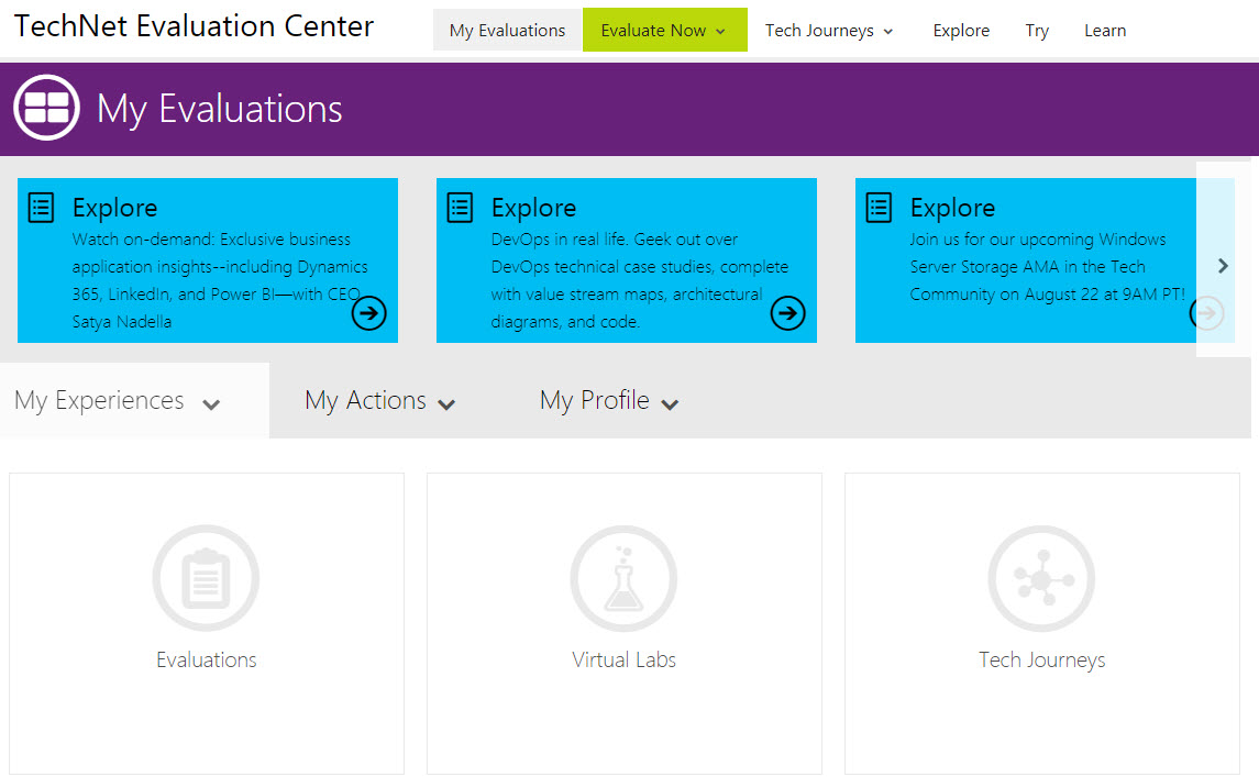 Microsoft Office online - TechNet Evaluation Center
