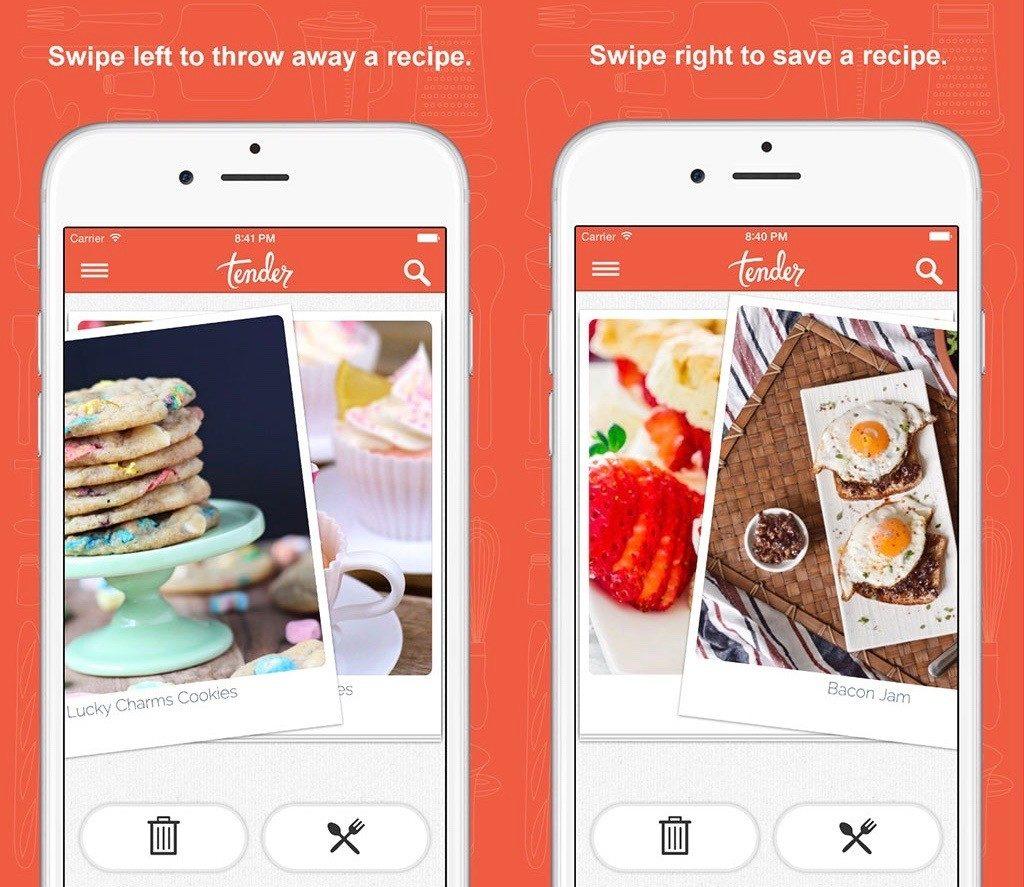 Best foodie apps tender