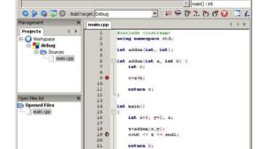The basics of debugging in Code::Blocks