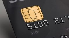New bank card with a cell phone chip