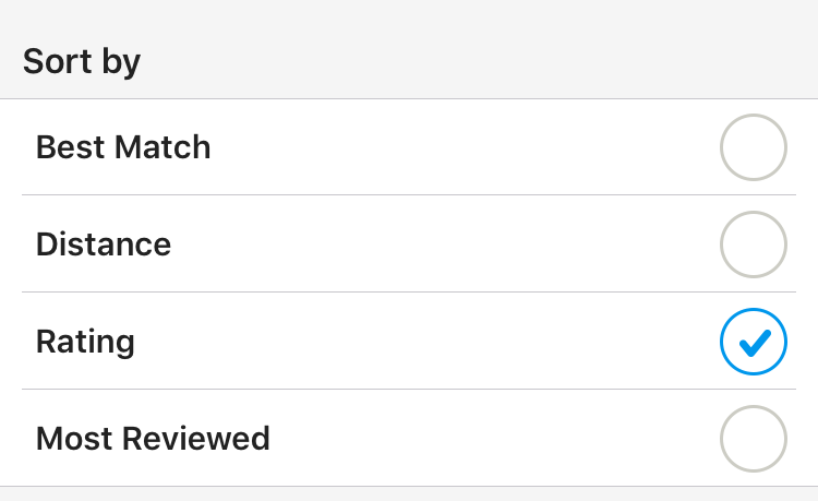 Yelp sort by rating