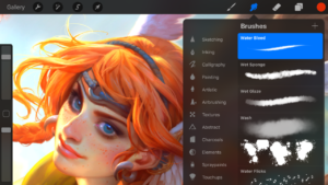 How to create digital artwork in ProCreate