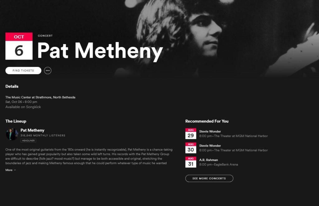 Spotify - Pat Metheny