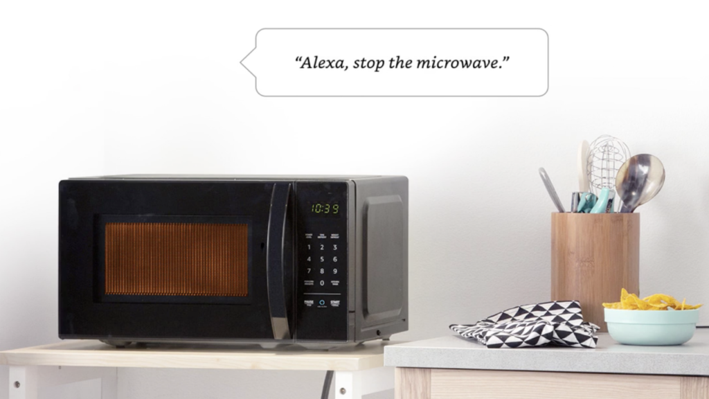 Amazon Basics Alexa Microwave