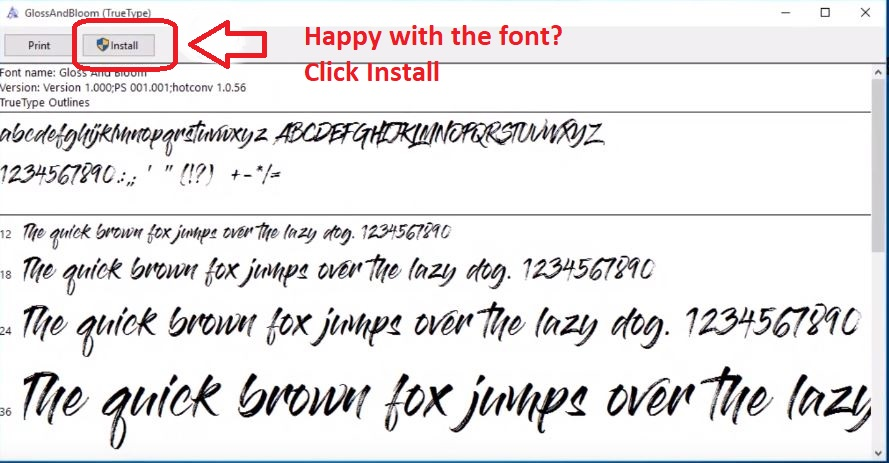Install your font