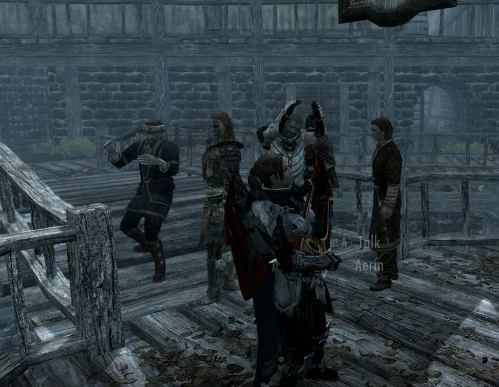 Go busking on the streets of Riften!