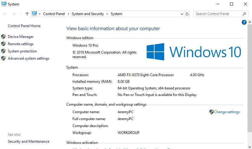 WindowsSystemProperties