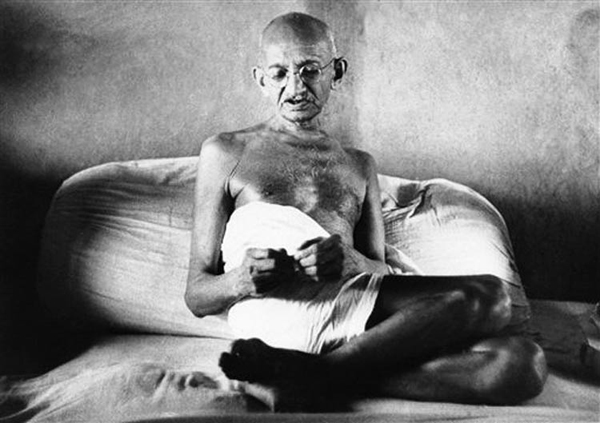Gandhi's fasts and peaceful protests helped India gain its independence