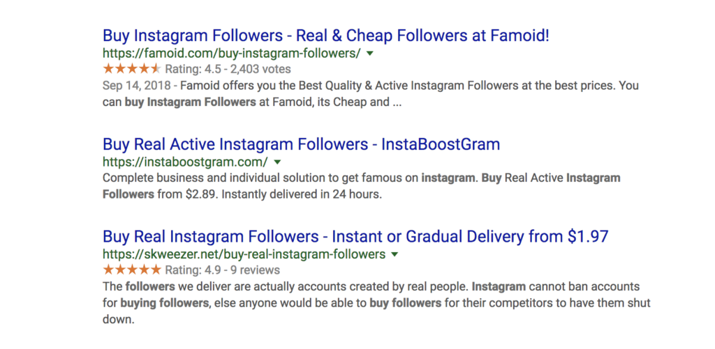 Fake Instagram Followers for Sale