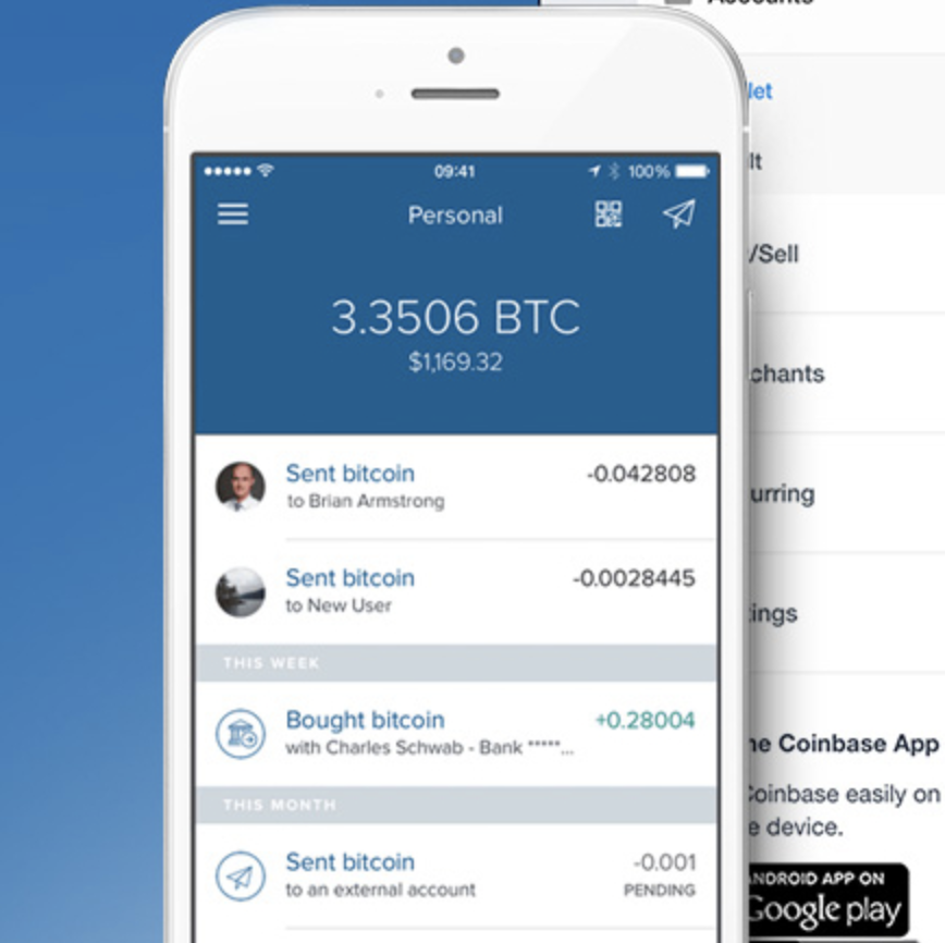 Coinbase mobile version