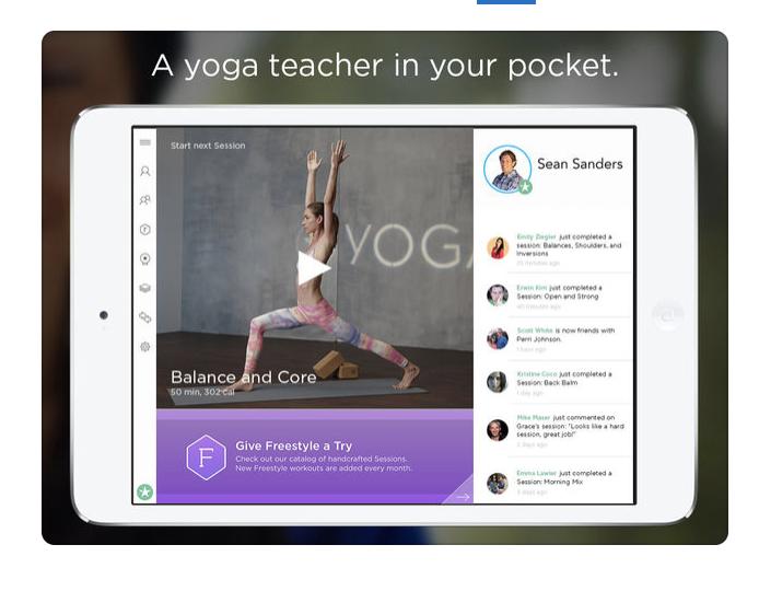 FitStar Yoga iPad