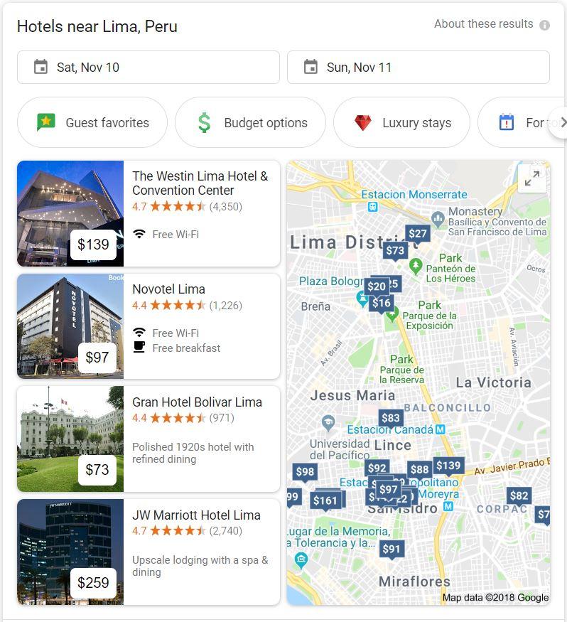 Google Hotel search console