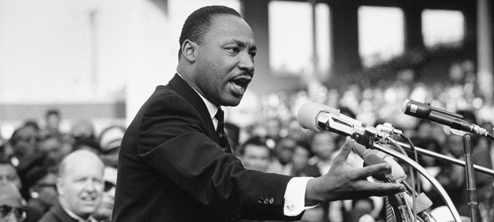 Martin Luther King Jr.'s background as a priest helped with his oratory skills