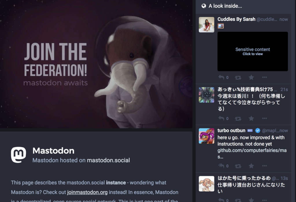 Mastodon Preview