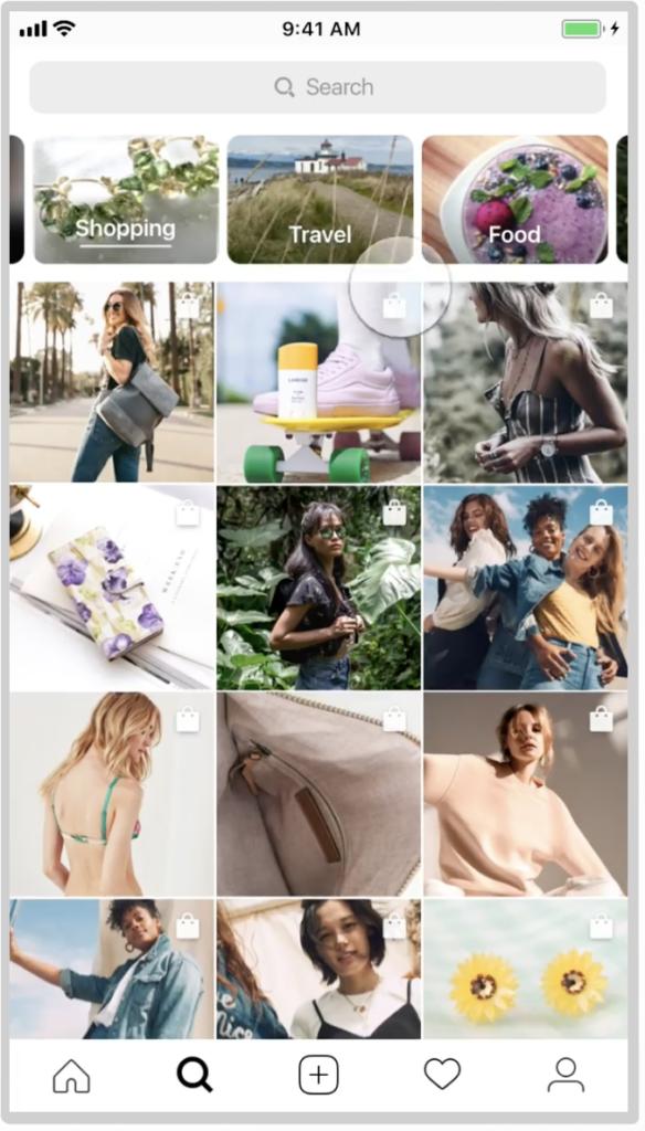 Social shopping Instagram