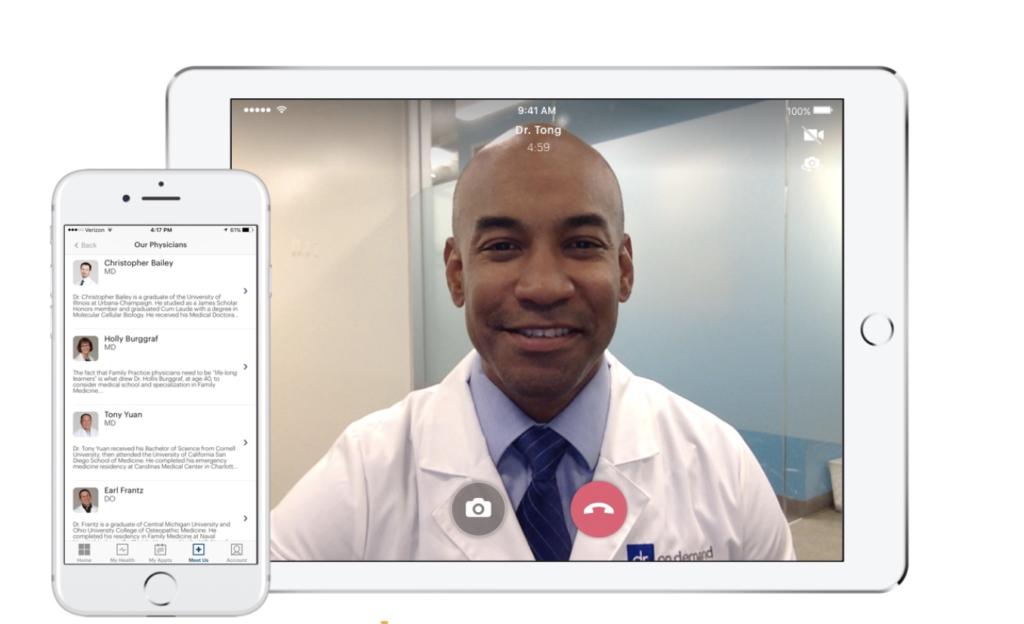 Doctor On Demand iPad, iPhone