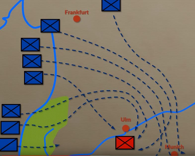 Napoleon used the flanking maneuver to cut off enemy escape and supply chains