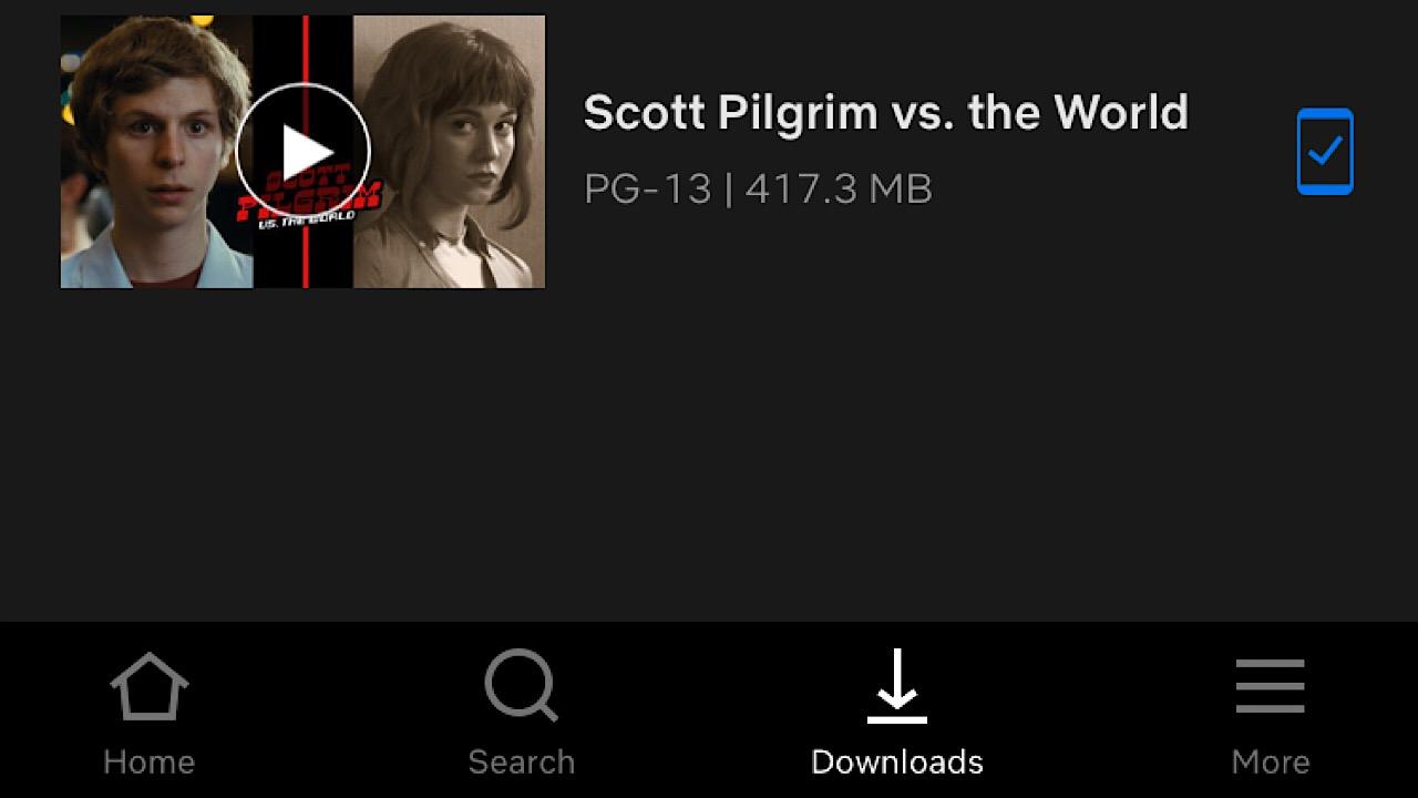 Scott Pilgrim downloaded netflix screenshot