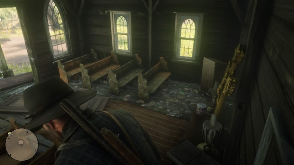 red dead redemption 2 mini church interior