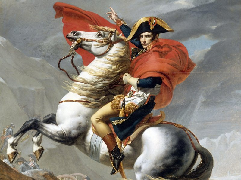 Napoleon atop Marengo, his favorite horse