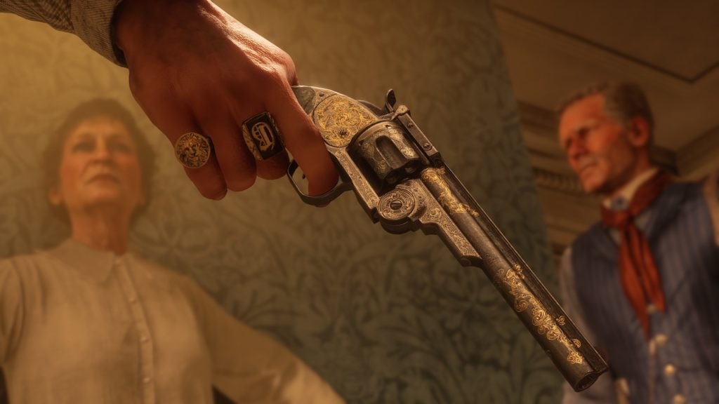 red dead redemption 2 rare pistol