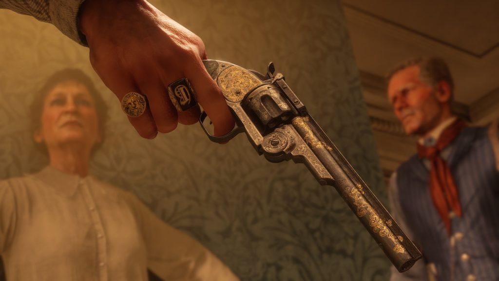 red dead redemption 2 rare pistol